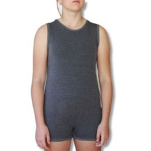 CLEARANCE Sleeveless Wonsie Unisex BodySuit - Grey Age 4  only from